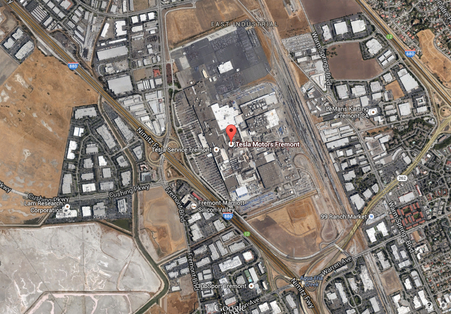 Tesla Factory Aerial View