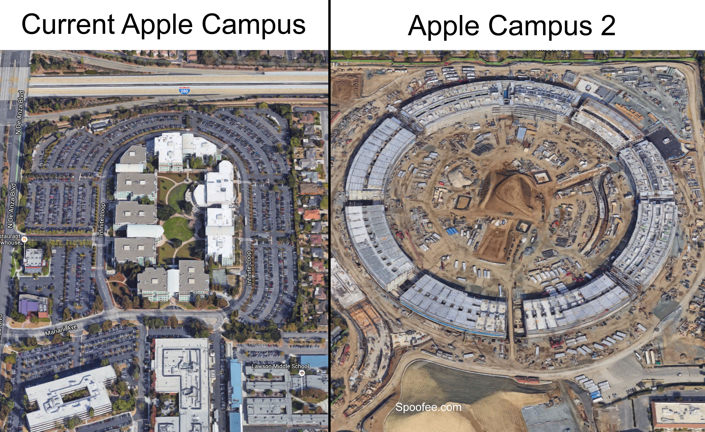 cupertino apple office. New Apple Headquarters Size Cupertino Office