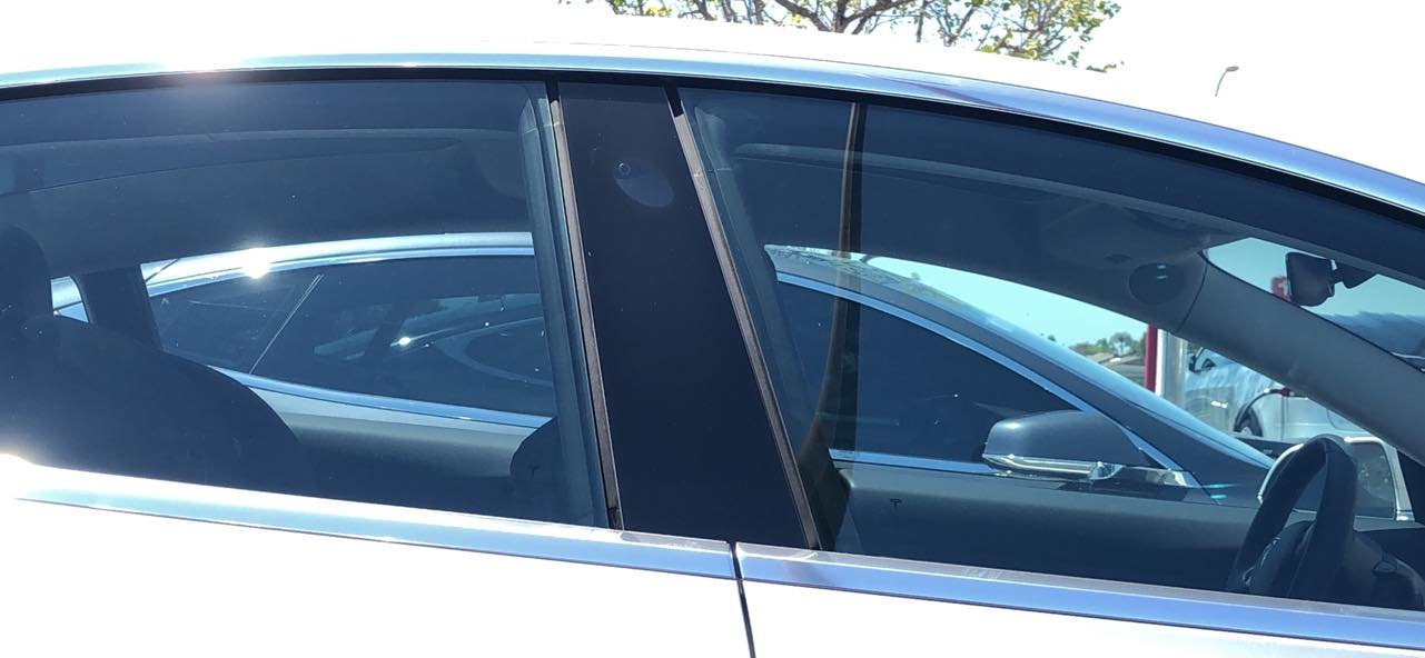 Model 3 Window Gap